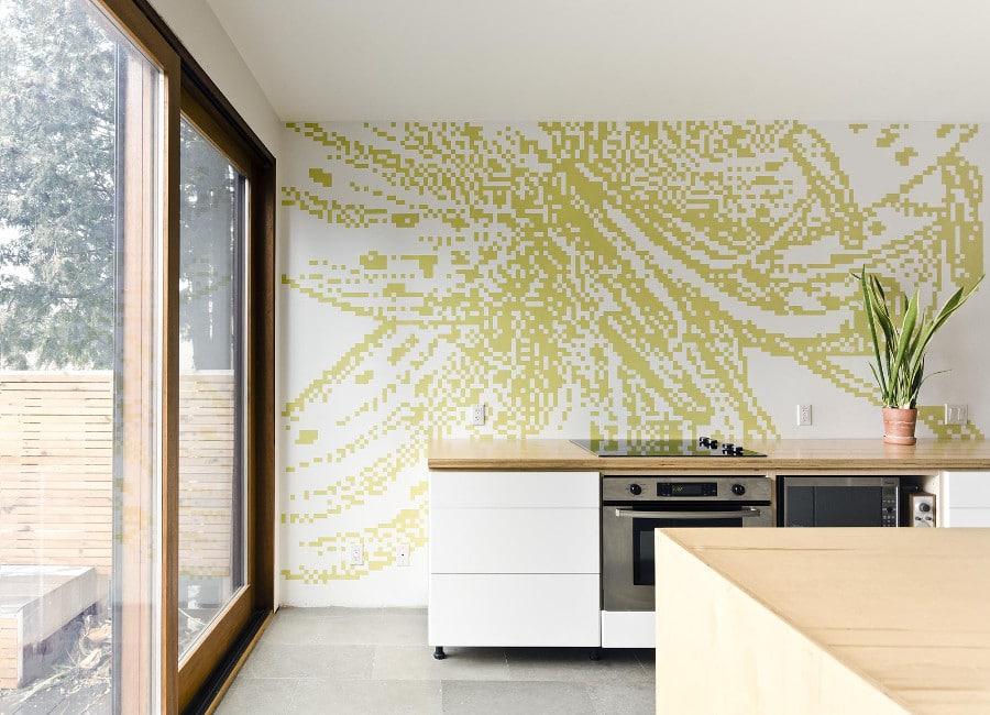 15 murs de cuisine tonnants toutes nos astuces de d coration. Black Bedroom Furniture Sets. Home Design Ideas