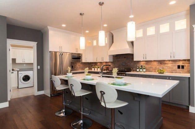 brique et cuisine 15 mod les de murs en brique. Black Bedroom Furniture Sets. Home Design Ideas