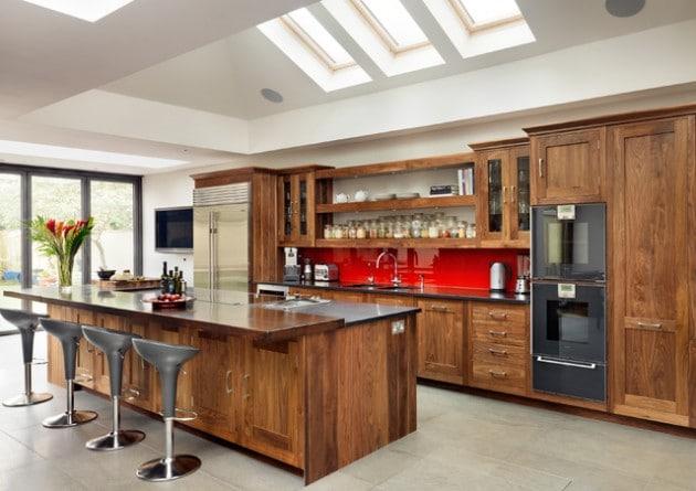 11 mod les de cuisine en bois moderne. Black Bedroom Furniture Sets. Home Design Ideas