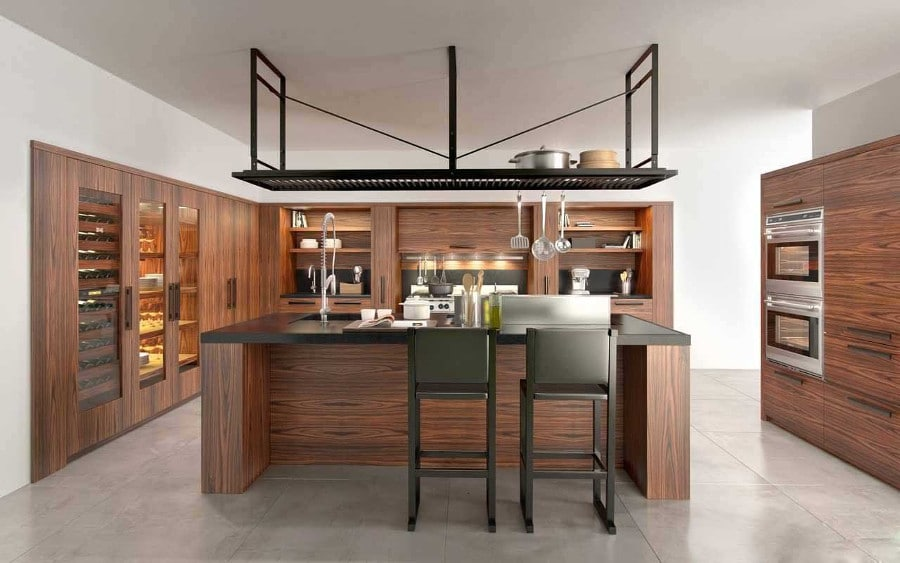 11 mod les de cuisine en bois moderne. Black Bedroom Furniture Sets. Home Design Ideas