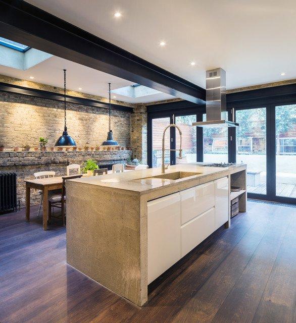 Brique et cuisine 15 mod les de murs en brique for Cuisine chic et moderne