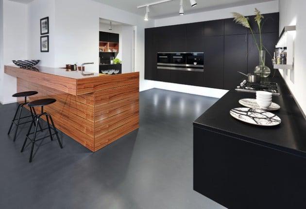 cuisine d inspiration japonaise 15 mod les aux tons sobres et l ambiance minimaliste. Black Bedroom Furniture Sets. Home Design Ideas