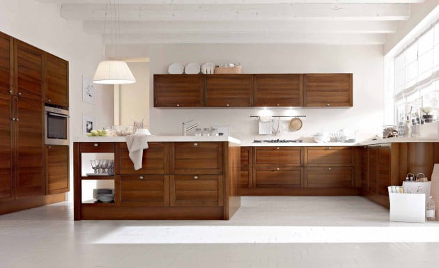11 mod les de cuisine en bois moderne la chaleur du bois for Cuisine moderne en bois