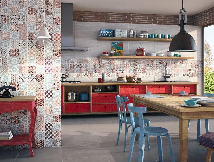 Voici une décoration de cuisine rétro industrielle comme on l'aime.
