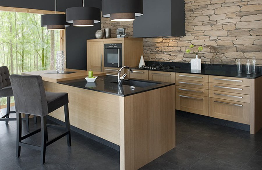 cuisine pierre et bois affordable best cuisines et bois images on pinterest kitchen designs. Black Bedroom Furniture Sets. Home Design Ideas