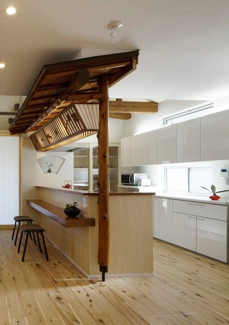 cuisine d inspiration japonaise 15 mod les aux tons sobres et minimaliste. Black Bedroom Furniture Sets. Home Design Ideas