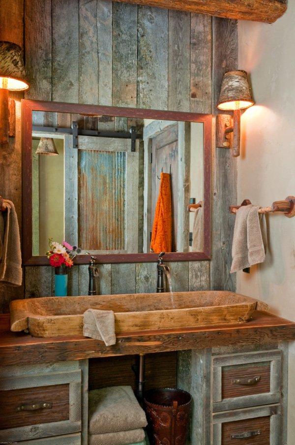 Plan de salle de bain: 15 idées du rustique au moderne