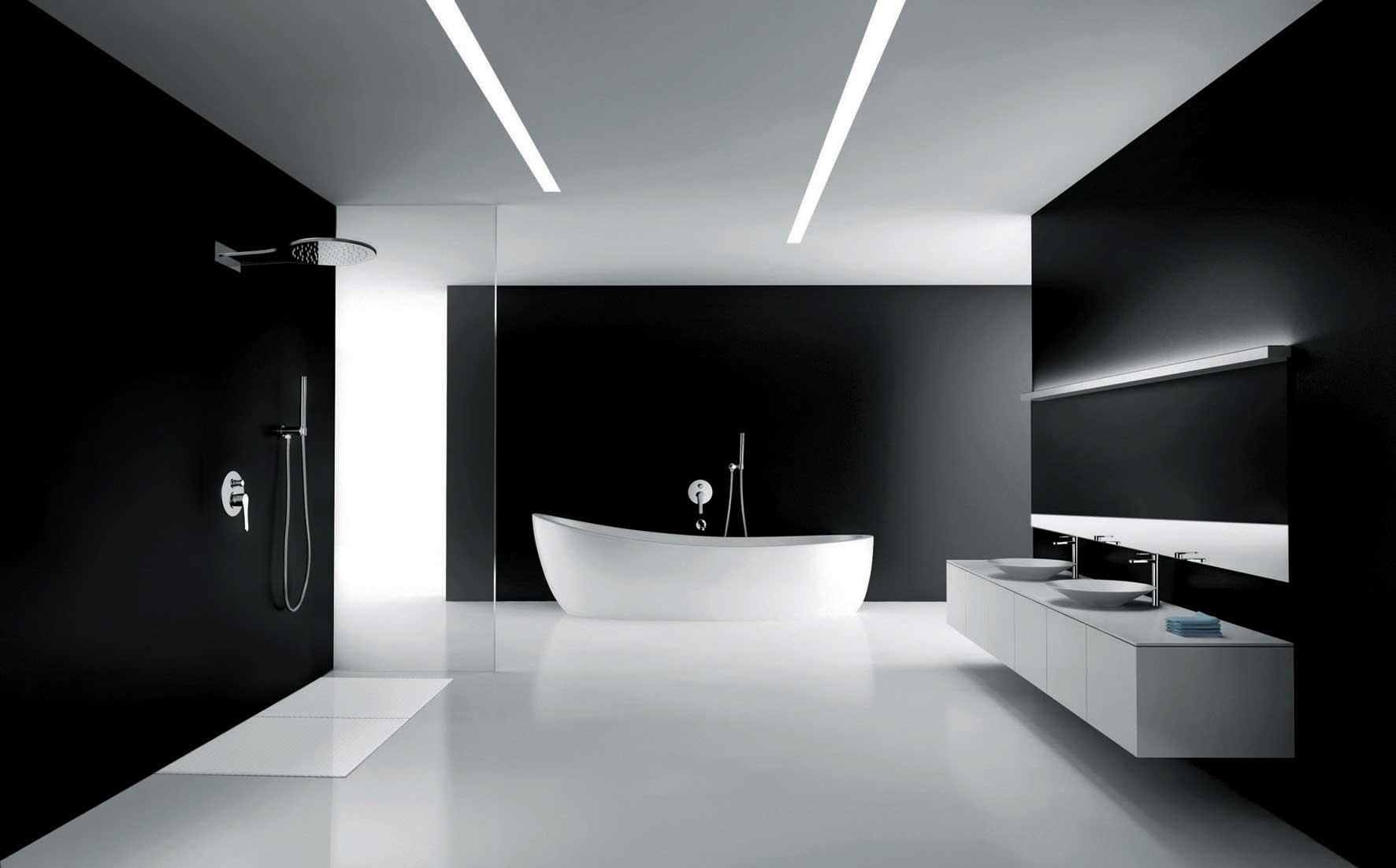 Salle de bain design minimaliste : 5 manières de débarrasser le ...