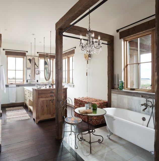 salle de bain rustique en teck - Utilisation du Teck dans la salle de bain: prévention et entretien