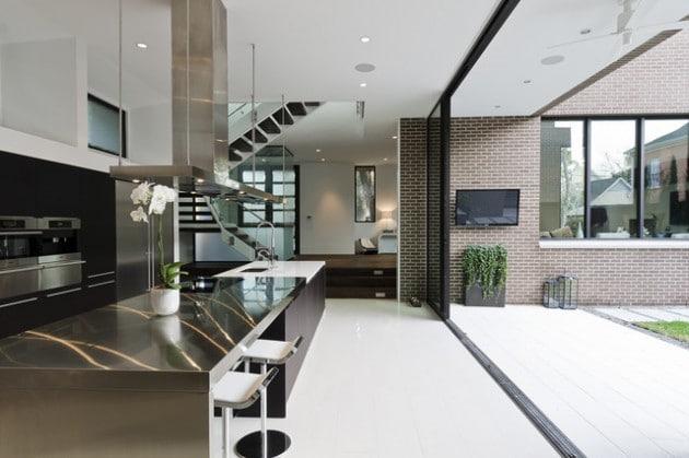 cuisine contemporaine en inox - Cuisine design en inox : 15 modèles d'élégance et de raffinement