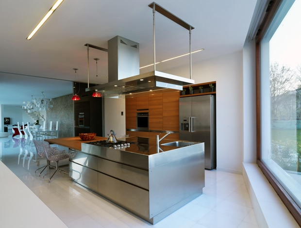 cuisine inox - Cuisine design en inox : 15 modèles d'élégance et de raffinement