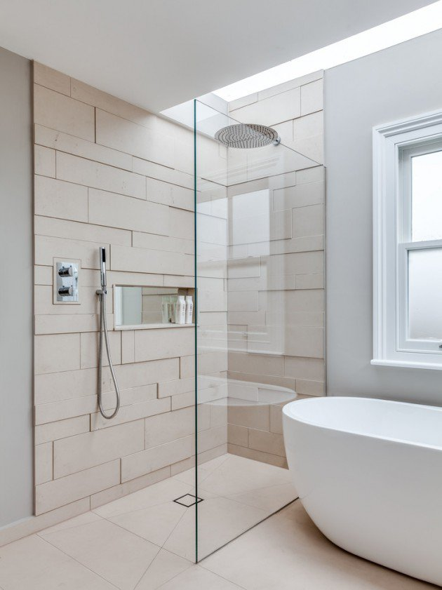 le carrelage scandinave en 18 mod les quels carreaux pour quelle salle de bain. Black Bedroom Furniture Sets. Home Design Ideas