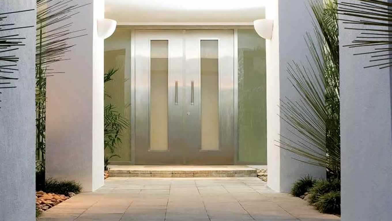 Entry door designs memorable modern glass exterior doors for Modern front double door designs