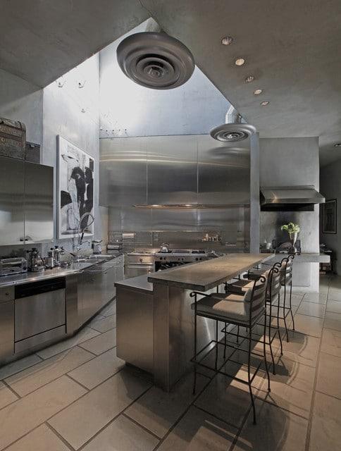 style acier inoxydable - Cuisine design en inox : 15 modèles d'élégance et de raffinement