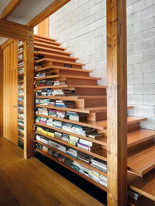 14 Bibliothèques Aménagées Sous L'Escalier - Consobrico.Com