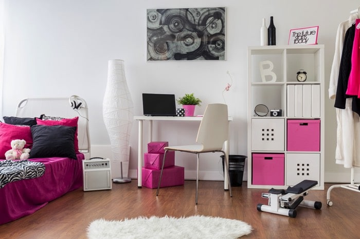 deco chambre ado fille gris et rose. Black Bedroom Furniture Sets. Home Design Ideas