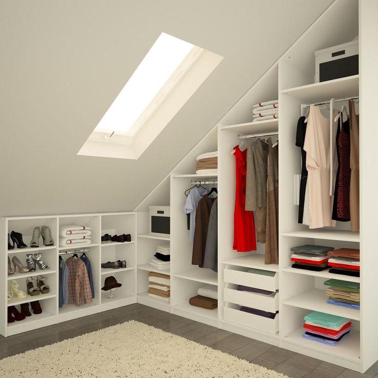 Dressing dans les combles : 12 manières d\'aménager et d\'optimiser