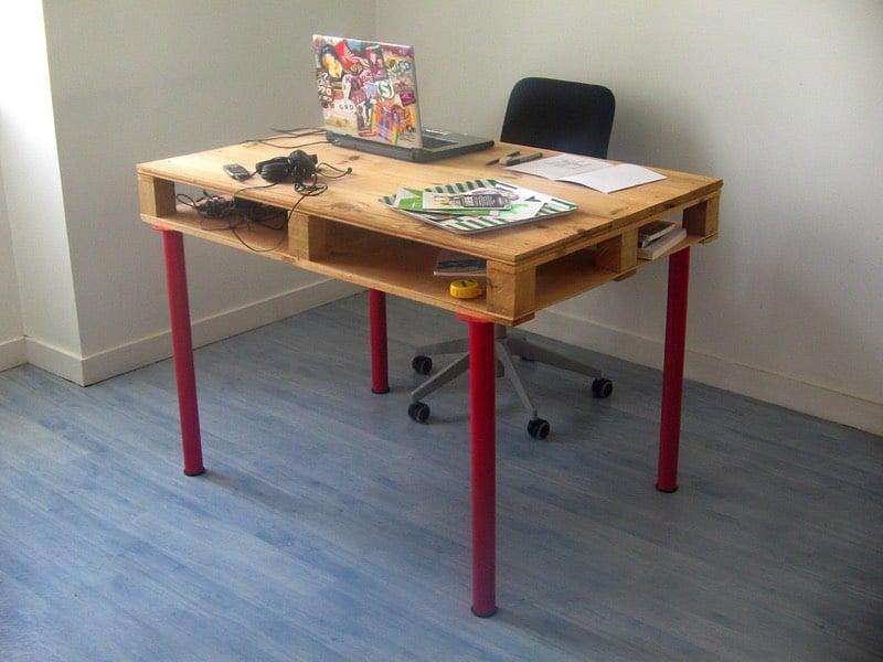 Bureau en palettes idées le bureau tendance et zen facile à
