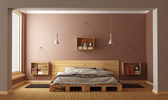 lit en palettes 25 id es 10 conseils pour le fabriquer moindre co t. Black Bedroom Furniture Sets. Home Design Ideas