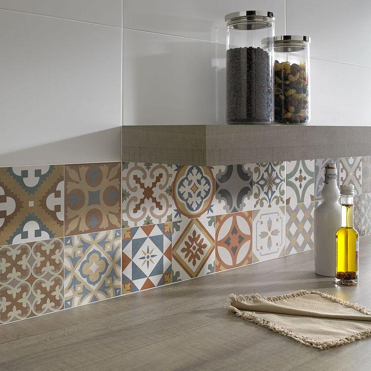 carreaux de ciment 25 exemples d int gration. Black Bedroom Furniture Sets. Home Design Ideas