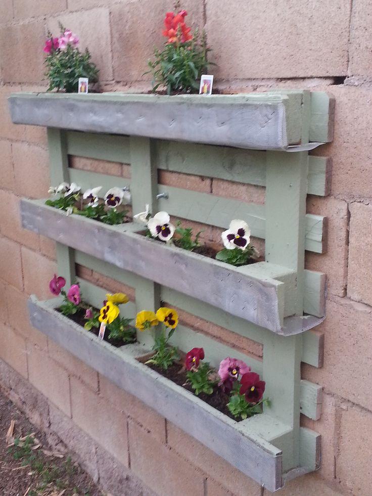 jardinière en palette 1