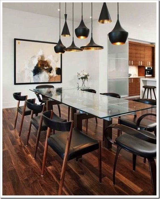 Luminaires de salle à manger: 19 lampes ou suspensions