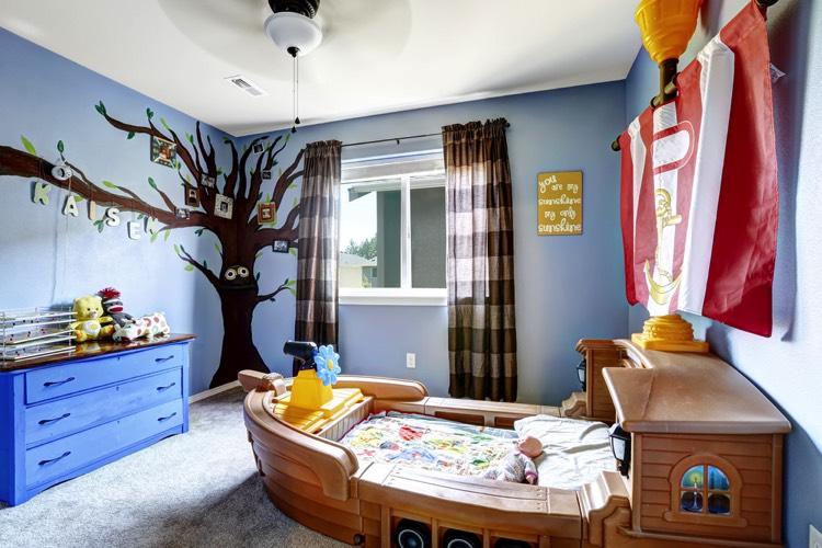 Quelle peinture pour une chambre de garçon : 27 couleurs et ...