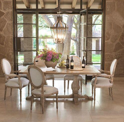 La pierre naturelle dans une salle manger 12 mod les for Model salle a manger 2016