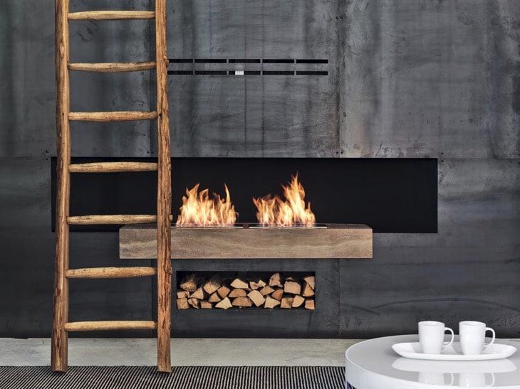 42 id es de rangement du bois de chemin e et chauffage. Black Bedroom Furniture Sets. Home Design Ideas