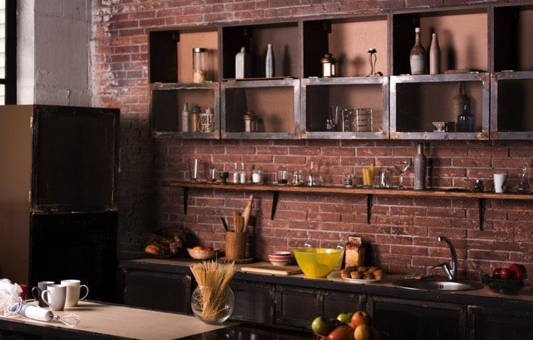 La brique dans votre salle manger 20 mod les pour vous inspirer for Cuisine brique rouge
