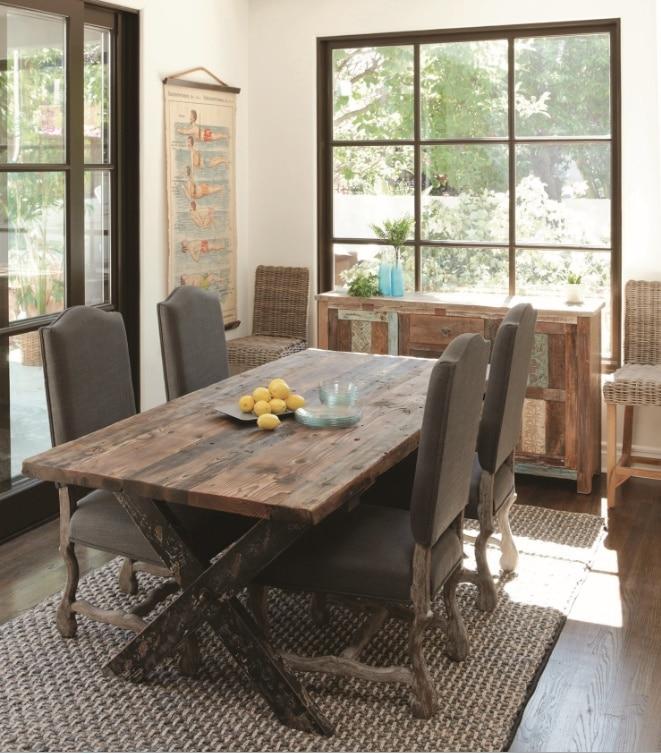 salle manger campagnarde rustique 16 mod les comme. Black Bedroom Furniture Sets. Home Design Ideas