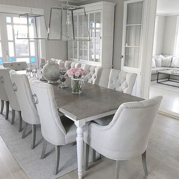 salle 224 manger design blanche 25 id233es lassocier avec