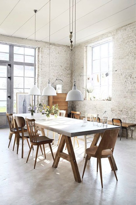 Salle à manger design blanche (25 idées) : l\'associer avec bois et ...