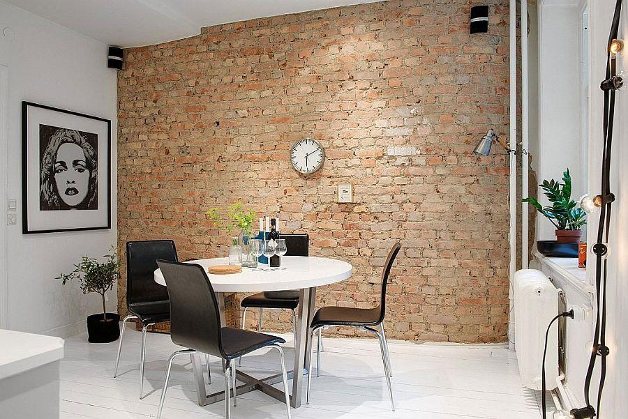 la brique dans votre salle manger 20 mod les pour vous inspirer. Black Bedroom Furniture Sets. Home Design Ideas