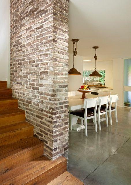 La brique dans votre salle manger 20 mod les pour vous for Lampe au dessus d une table