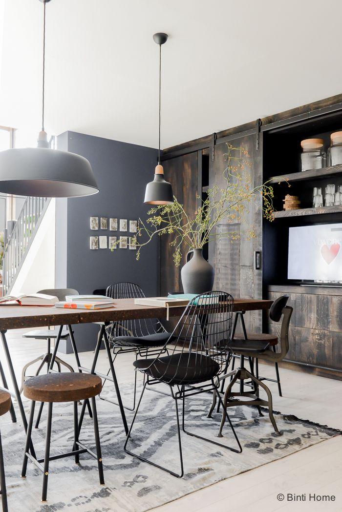 Salle manger de type industriel 16 id es d co inspirantes for Fabrication d une table de salle a manger