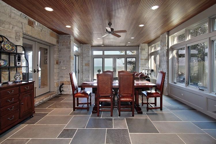 salle manger avec carrelage gris dcorationsalon salle. Black Bedroom Furniture Sets. Home Design Ideas