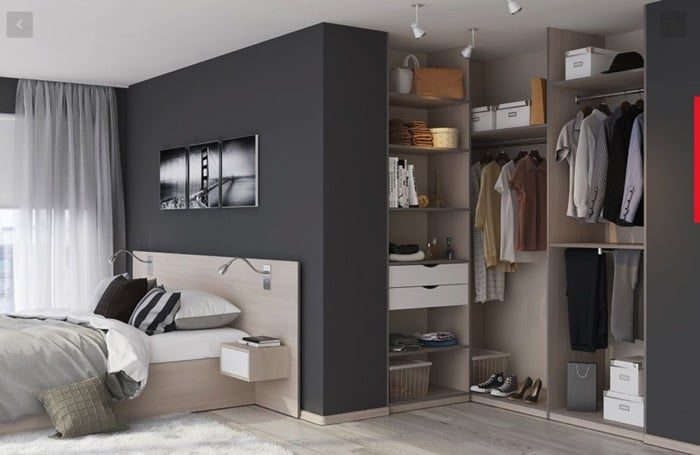 stunning copyright with placard moderne chambre. Black Bedroom Furniture Sets. Home Design Ideas