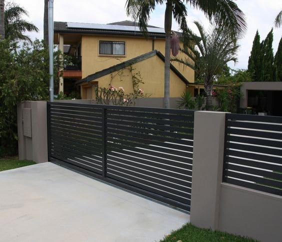 Fabuleux Portail en aluminium contemporain (18 designs) : le portail moderne OF61