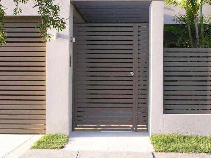 Portail en aluminium contemporain 18 designs le for Portail alu marron