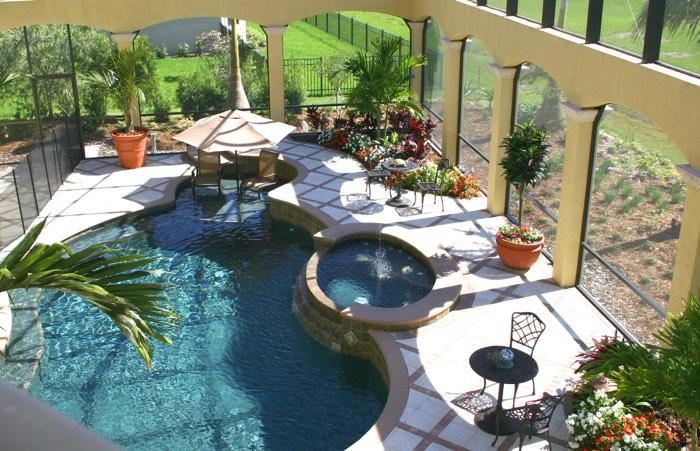 82 exemples d 39 am nagement d 39 une terrasse zen - Deco jardin autour d une piscine metz ...