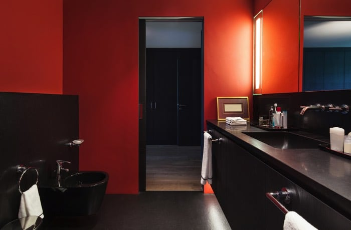 Awesome Salle De Bain Orange Et Noir Photos