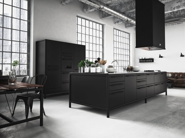 cuisine grise la cuisine tendance en 40 mod les gris clair anthracite. Black Bedroom Furniture Sets. Home Design Ideas