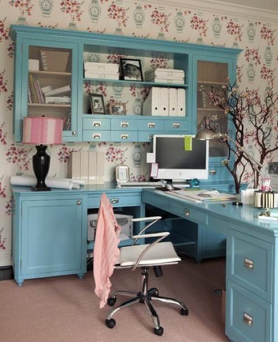 21 Feminine Home Office Designs Decorating Ideas: 25 Idées Déco D'un Bureau Maison : Nos Astuces Pour Le Mettre En Valeur