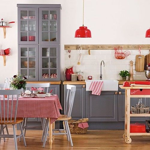 salle manger rouge 11 mod les modernes et traditionnels. Black Bedroom Furniture Sets. Home Design Ideas