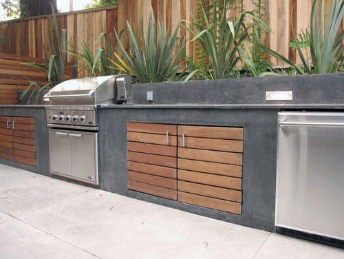 Cuisine ext rieure en b ton 9 designs 5 bonnes raisons for Plan cuisine exterieure bois