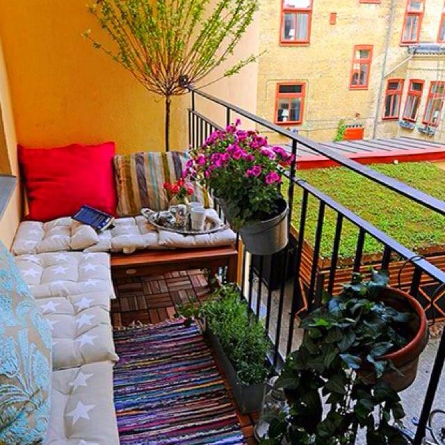 Дизайн маленького открытого балкона