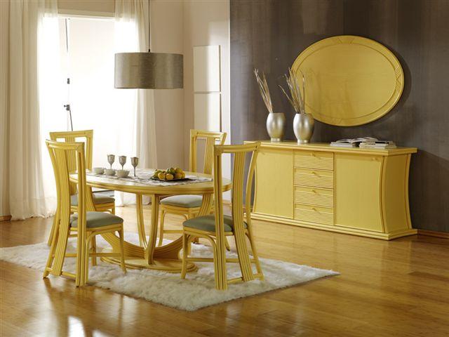 Salle manger jaune 14 id es design pour int grer la for Chaise salle a manger jaune moutarde