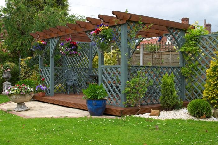 Pergola ou tonnelle 34 mod les poustouflants d couvrir - Tonnelle de jardin vert pomme ...
