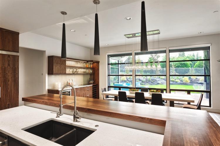Plan de travail de cuisine 40 designs guide complet - Evier cuisine original ...